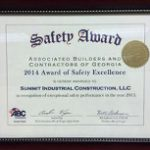 2014 Safety Award of Excellence