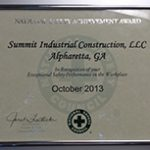2013 National Safety Council Award of Excellence