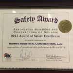 2015 Safety Award of Excellence